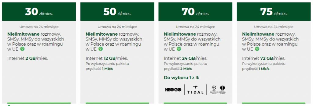 Оператор Plus в Польщі, тарифи 2019